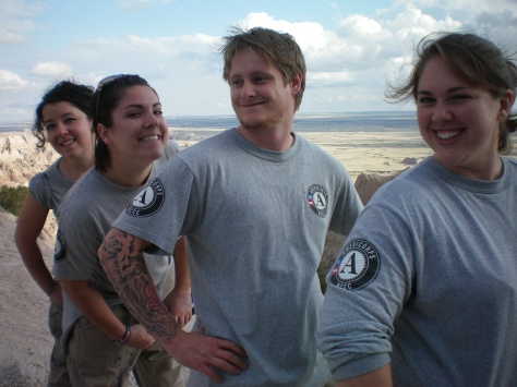 AmeriCorps at the Badlands South Dakota