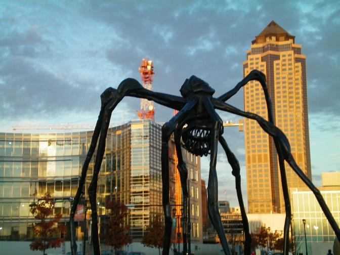 Spider in Des Moines, Iowa